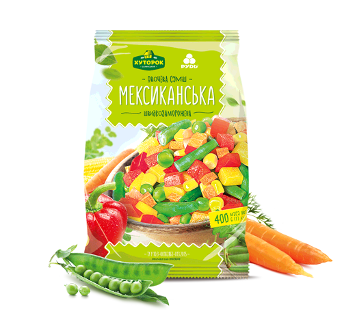 "«""THE MEXICAN"" VEGETABLE MIX» Frozen & chilled products"