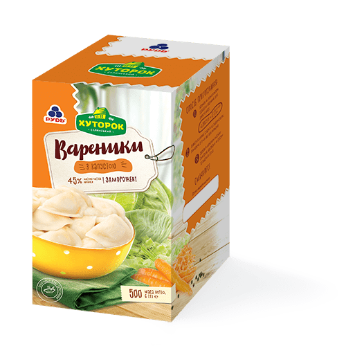 «Varenyky with cabbage» Products