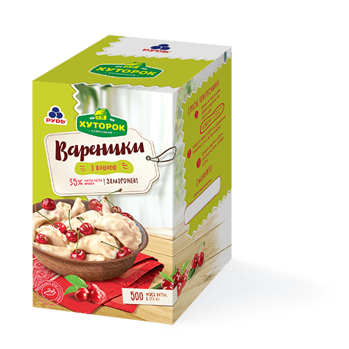 «Varenyky with cherry» Products