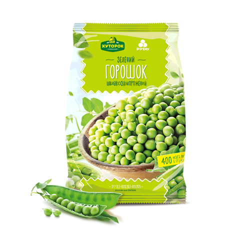 «QUICK-FROZEN GREEN PEAS» Frozen & chilled products