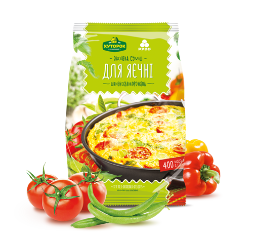 Заморожені продукти «Овочева суміш <br> «Для яєчні»»