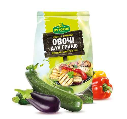 "«Vegetables with Mushrooms <br>""For Grilling""» Frozen & chilled products"