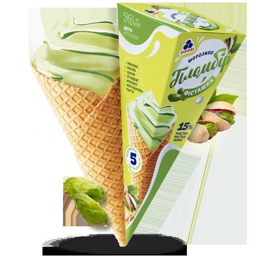 Морозиво ««Крем-пломбір» фісташка»