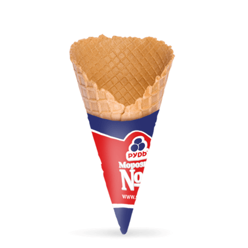 """Waffle Cone, 125mm, 23"""" (withjacket) HoReCa ТМ «Rud»"""
