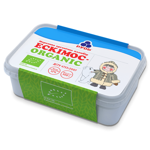 ««THE ESKIMOS - ORGANIC» – IN TRAY CONTAINER» Ice Cream