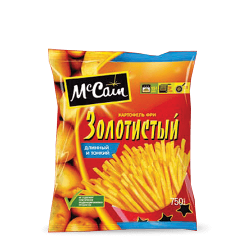 "«McCain TM ""Golden"" Long & Short Shoesrting French Fries» Frozen & chilled products"