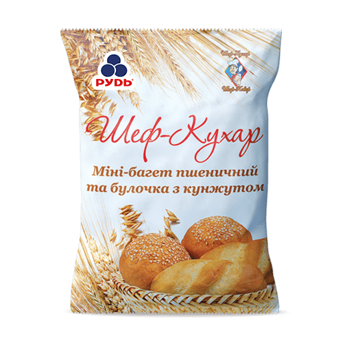 SESAME BUN AND WHOLE WHEAT MINI BAGUETTE MIX HoReCa ТМ «Rud»