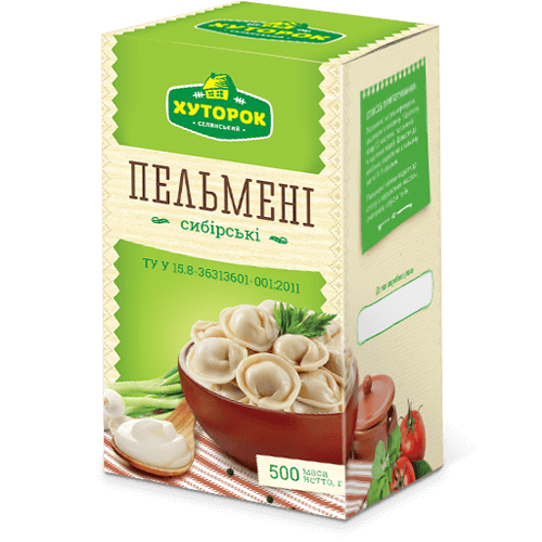 "«""THE SIBERIAN"" MEAT POCKETS» Frozen ready-to-cook food"