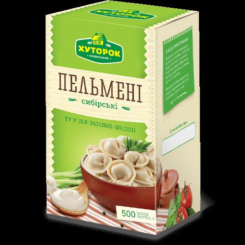 Пельмені «Сибірські». Заморожені напівфабрикати від ТМ «Рудь»