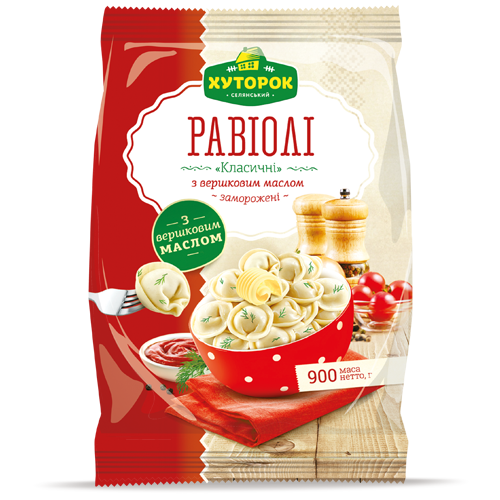 «Classic Ravioli with Dairy Cream Butter» Frozen ready-to-cook food