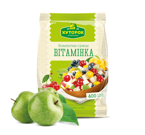 "«""VITAMINKA"" FRESH-FROZEN COMPOTE MIX» Frozen & chilled products"