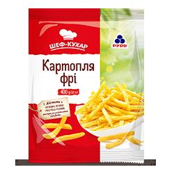 Замороженный картофель фри соломка ТМ «Рудь»