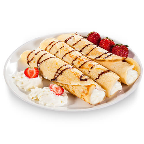 French Crepes with Cottage Cheese Filling HoReCa