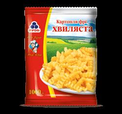 Замороженный картофель фри волнистый ТМ «Рудь»