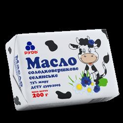 Масло солодковершкове селянське