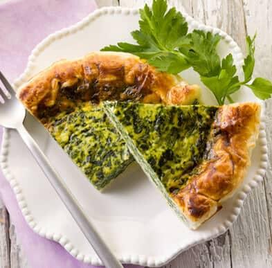 Рецепты пирога со шпинатом с разными начинками