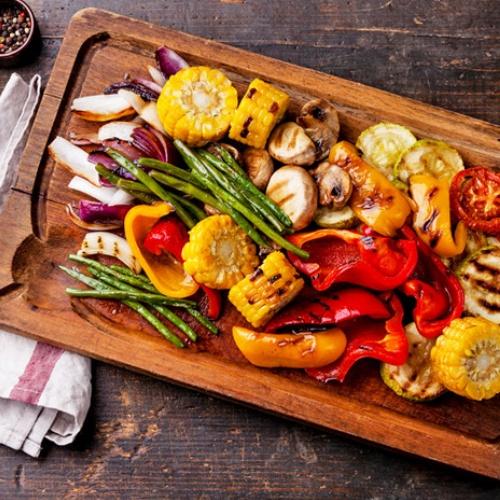 Рецепти з овочами на мангалі
