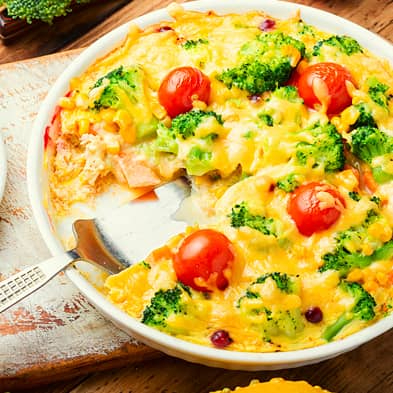 Vegetable casserole in the oven