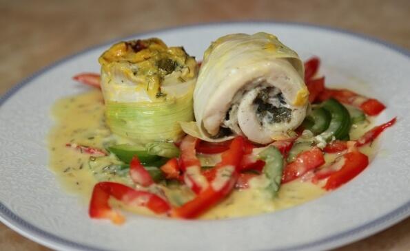 Рибні рулети з овочами