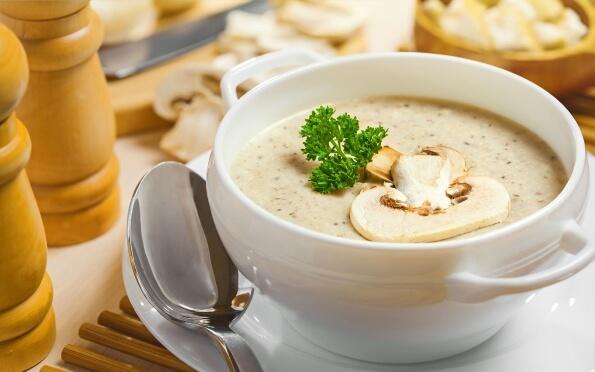 Суп-пюре с шампиньонами